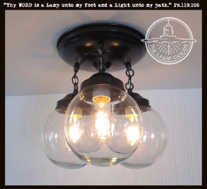Biddeford II. Modern Lighting Fixture Trio - The Lamp Goods
