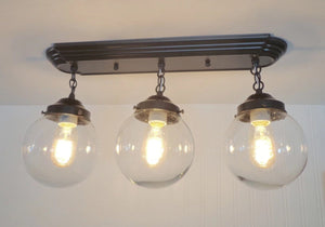 Biddeford II. Modern Ceiling Light Fixtures Rectangular Trio - The Lamp Goods