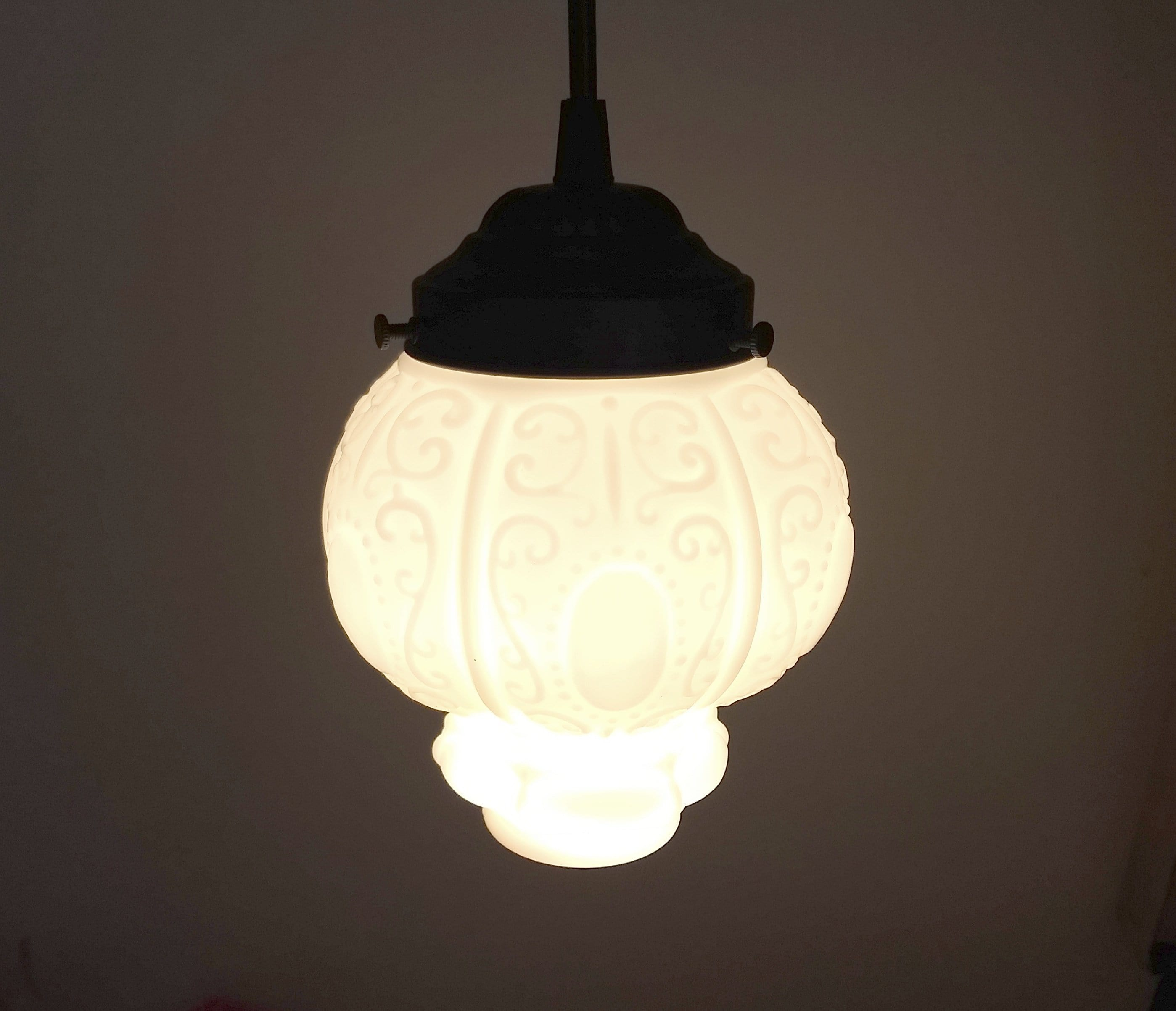 zoom pressed il shade milk hobnail bubble vintage listing art clear frosted glass chandelier fullxfull
