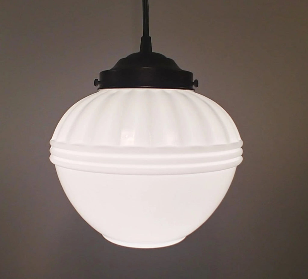 Elegant Milk Glass Pendant Light - The Lamp Goods