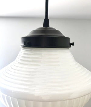 Traditional Milk Glass Pendant Light - The Lamp Goods