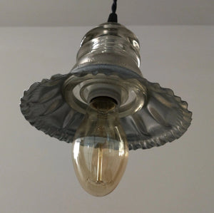 Vintage Insulator and Metal Shade Pendant Light - The Lamp Goods