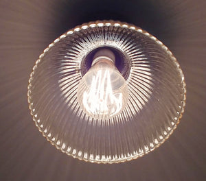 Vintage Holophane Industrial Ceiling LIGHT - The Lamp Goods