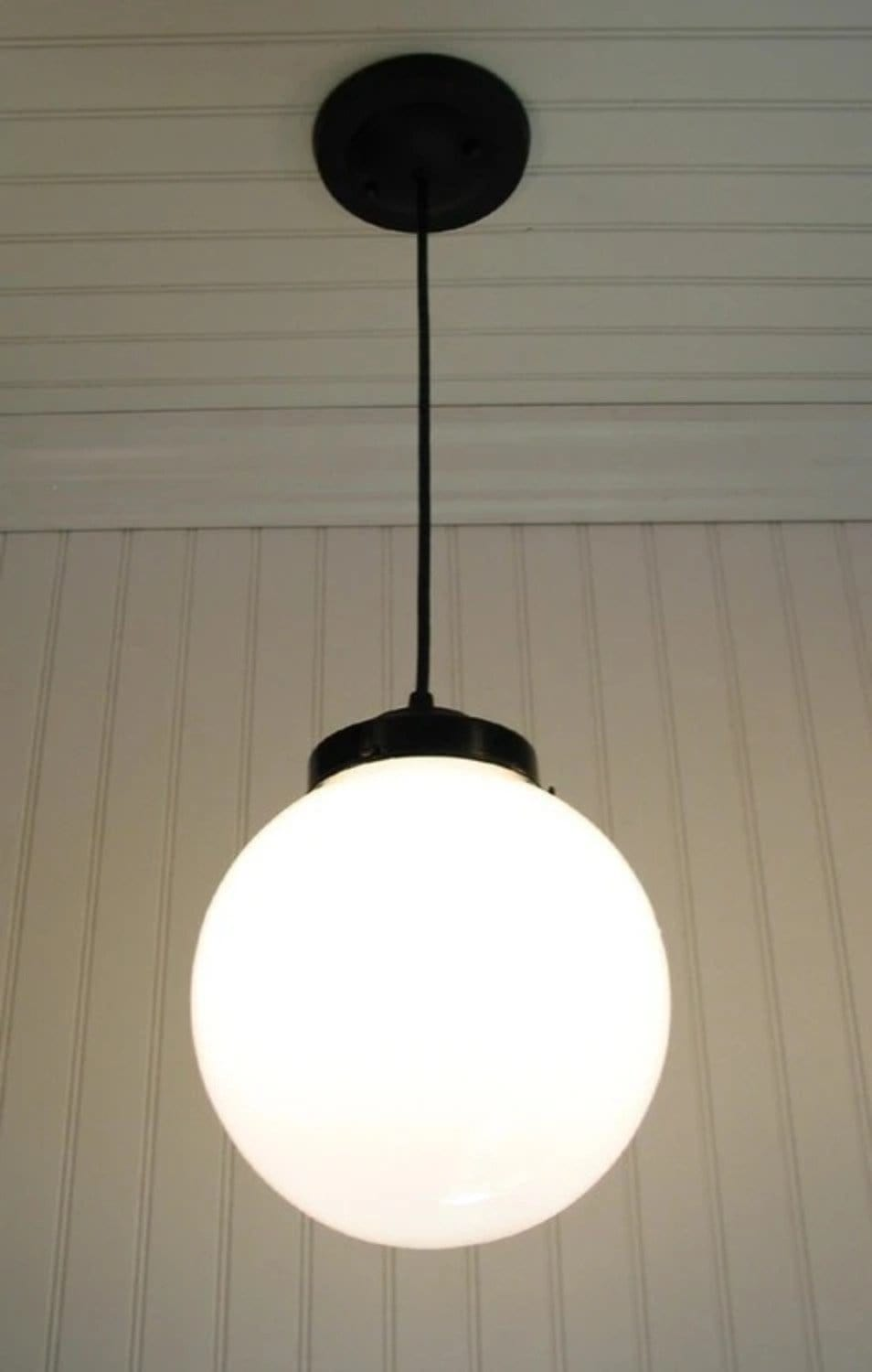 Milk Glass PENDANT Light Large Globe   The Lamp Goods Photo Gallery
