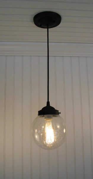 Seeded Glass Pendant Lighting - Clear Glass Lighting Fixtues - The Lamp Goods - 2