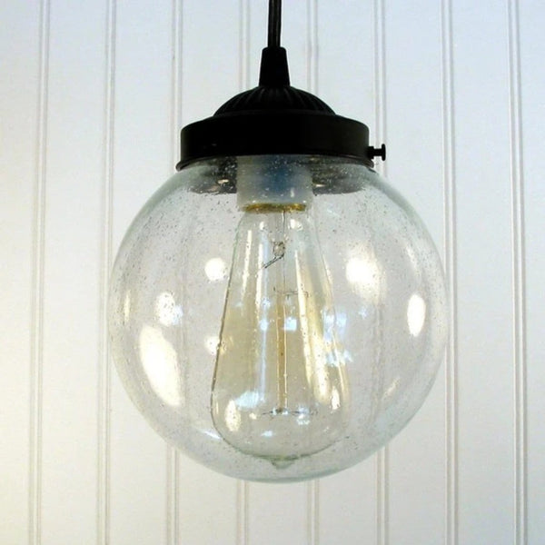 Seeded Glass Pendant Lighting - Clear Glass Lighting Fixtues - The Lamp Goods - 4