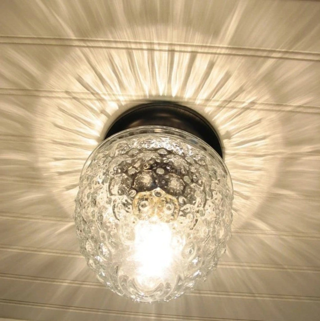 Island Falls. Glass Ceiling Light Clear Globe - The Lamp Goods