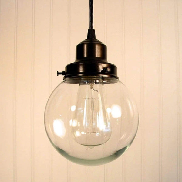 Biddeford II. Clear Glass PENDANT Light - Clear Glass Lighting Fixtues - The Lamp Goods - 3