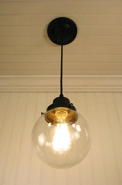 Biddeford II. Clear Glass PENDANT Light - Clear Glass Lighting Fixtues - The Lamp Goods - 4
