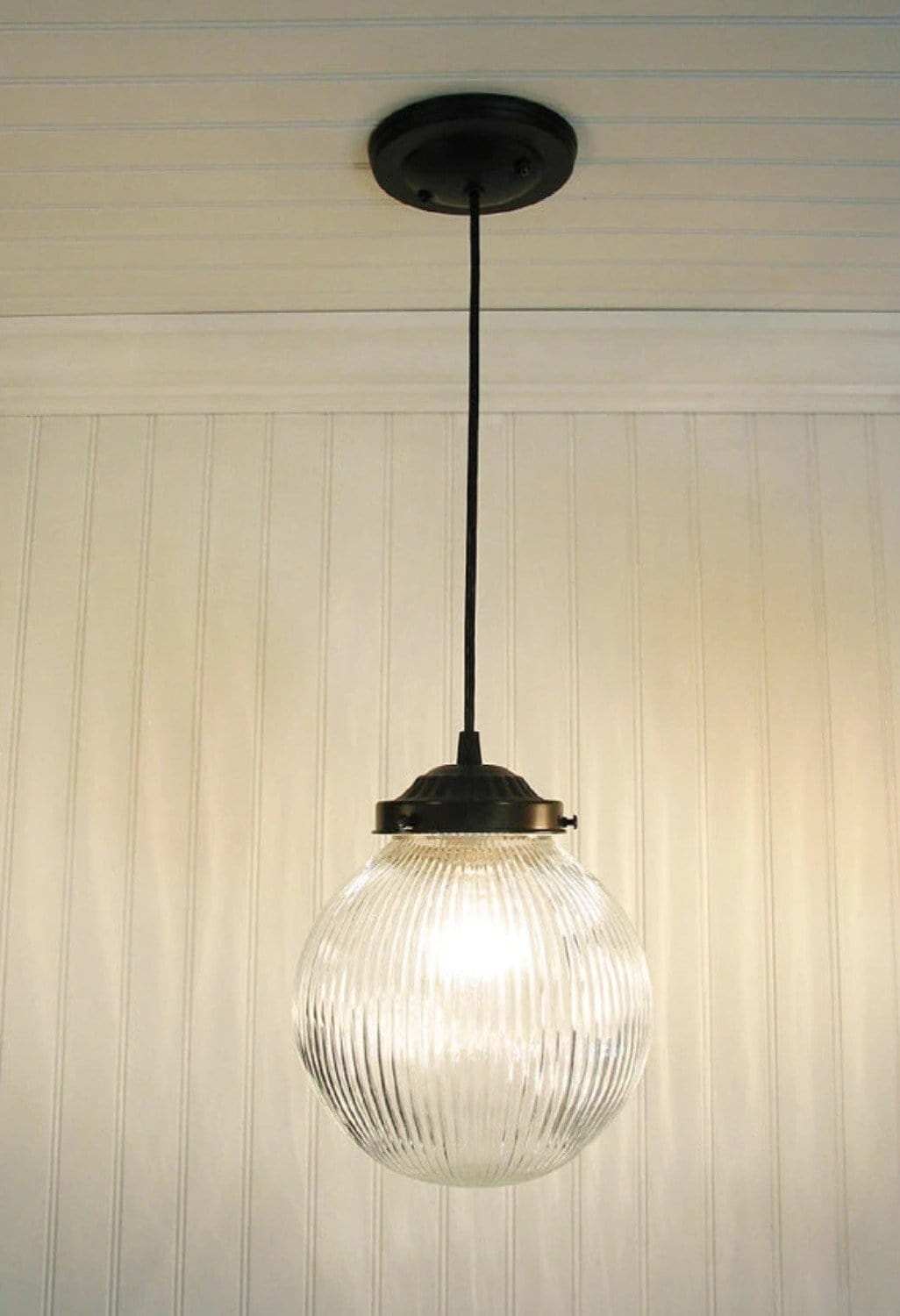 Large pendant light clear holophane globe the lamp goods aloadofball