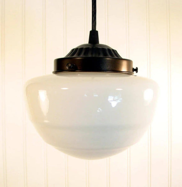 Pendant LIGHT Fixture of Replica Mushroom Globe - Mason Jar Light Fixture - The Lamp Goods - 4