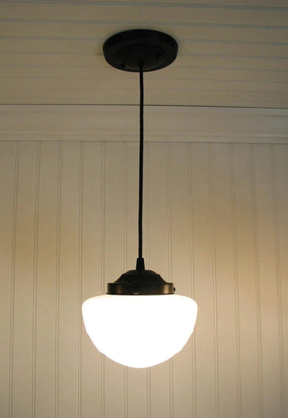 Pendant LIGHT Fixture of Replica Mushroom Globe - Mason Jar Light Fixture - The Lamp Goods - 3