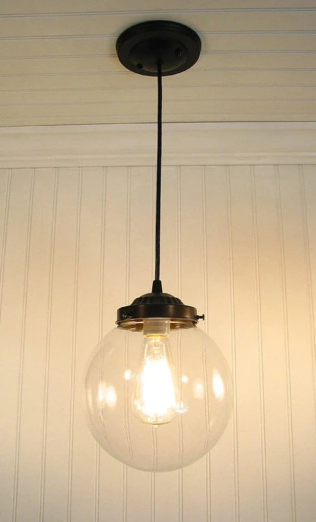 Biddeford. Glass PENDANT Light Large - The Lamp Goods
