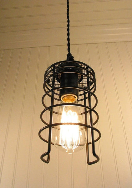 Auburn. Industrial Inspired Pendant LIGHT with Edison Bulb - Industrial Lighting - The Lamp Goods - 3