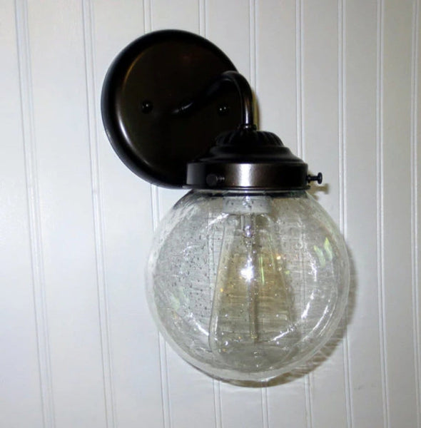 SEEDED Glass SCONCE Light with Edison Bulb - The Lamp Goods