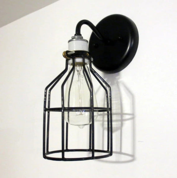 Industrial Wall LIGHT SCONCE with Edison Bulb - Industrial Lighting - The Lamp Goods - 5