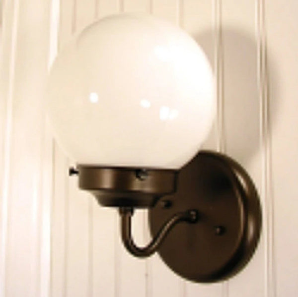 Port. Globe SCONCE Light Fixture - Milk Glass - The Lamp Goods - 2
