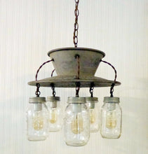 Load image into Gallery viewer, Exclusive Lamp Goods's Mason Jar CHANDELIER 5-Light - The Lamp Goods