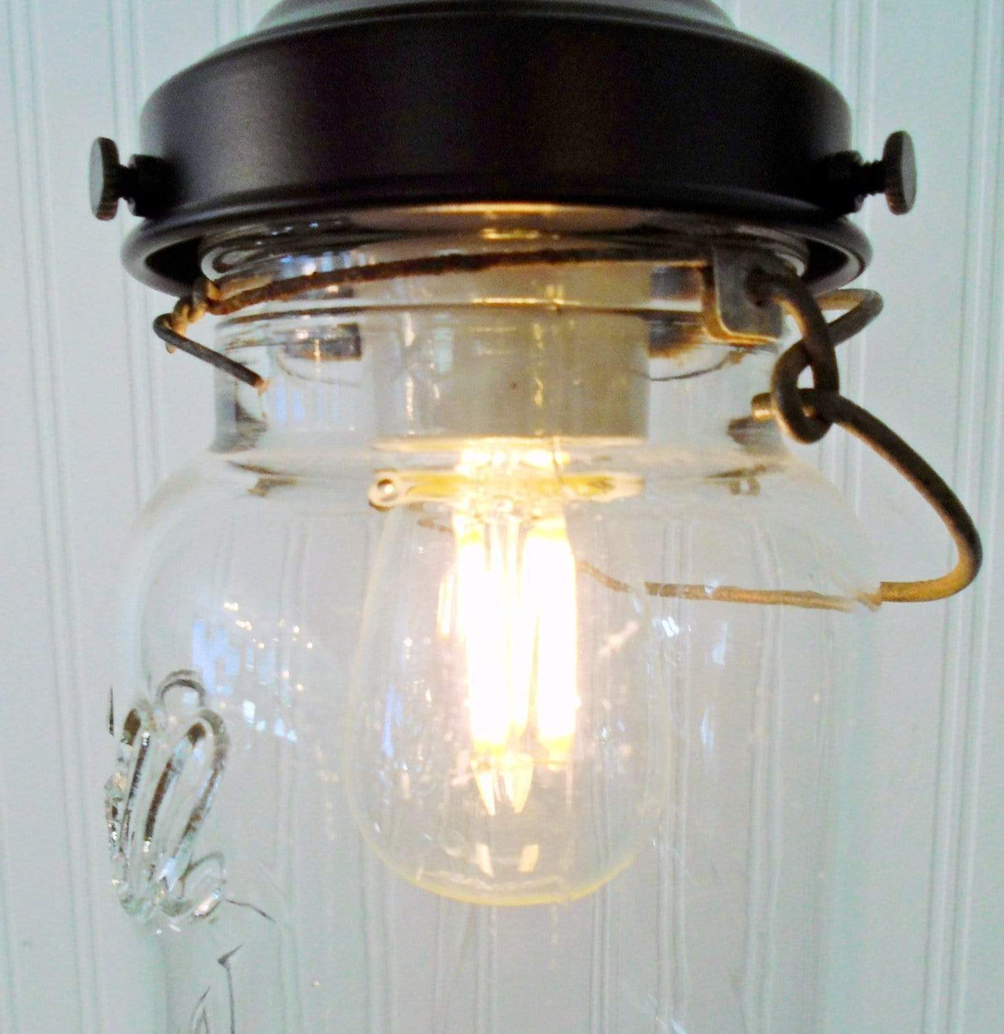 Edison Bulb Chandelier Mason Jar Lighting Mason By: LED Edison Style Light Bulb For Mason Jar Lighting