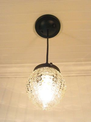 Antique Bubble Glass Hanging Pendant Light - The Lamp Goods