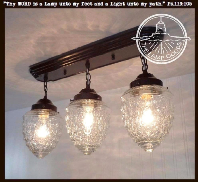 Island Falls. CEILING LIGHT Rectangular Trio - The Lamp Goods