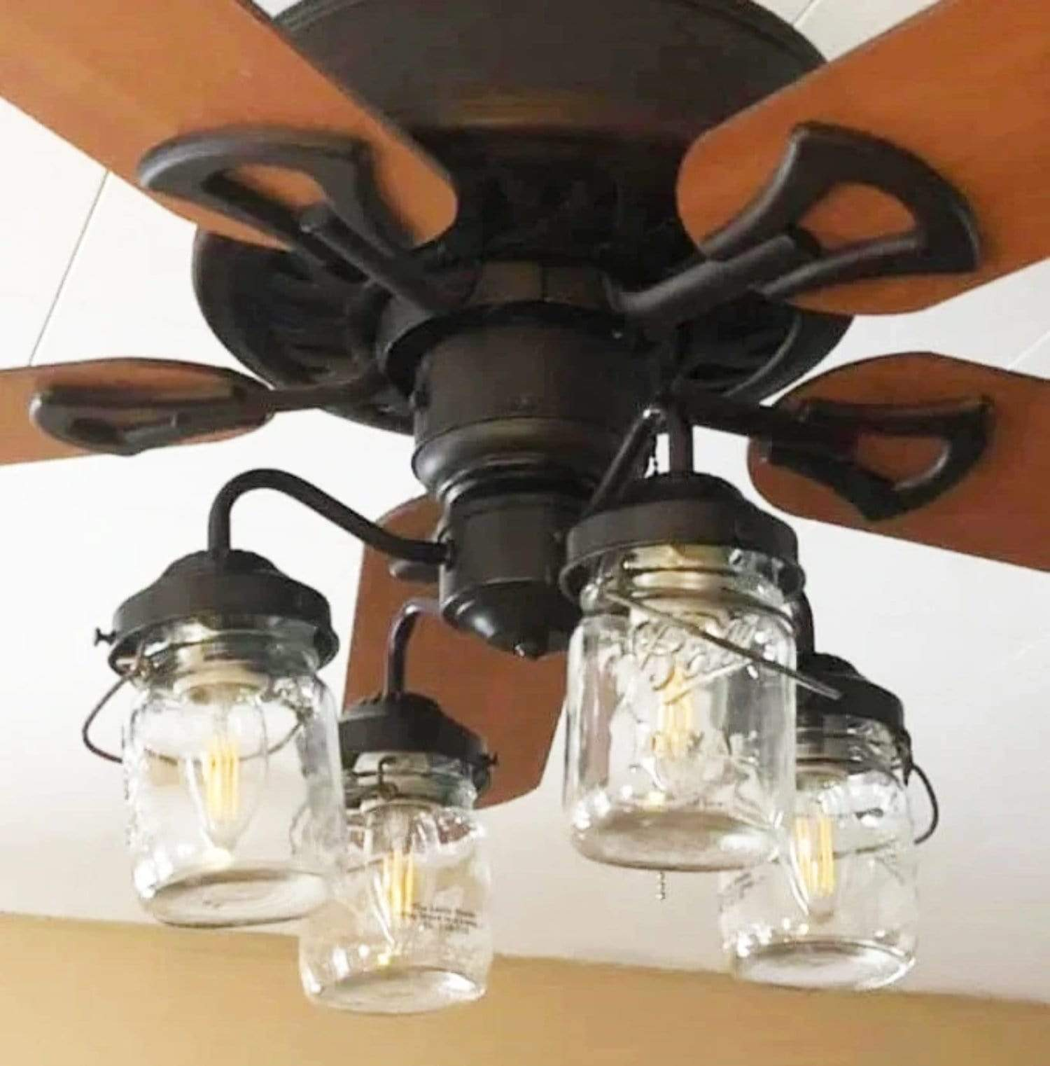 Mason Jar Light Kit For Ceiling Fan With Vintage Pints The Lamp Goods