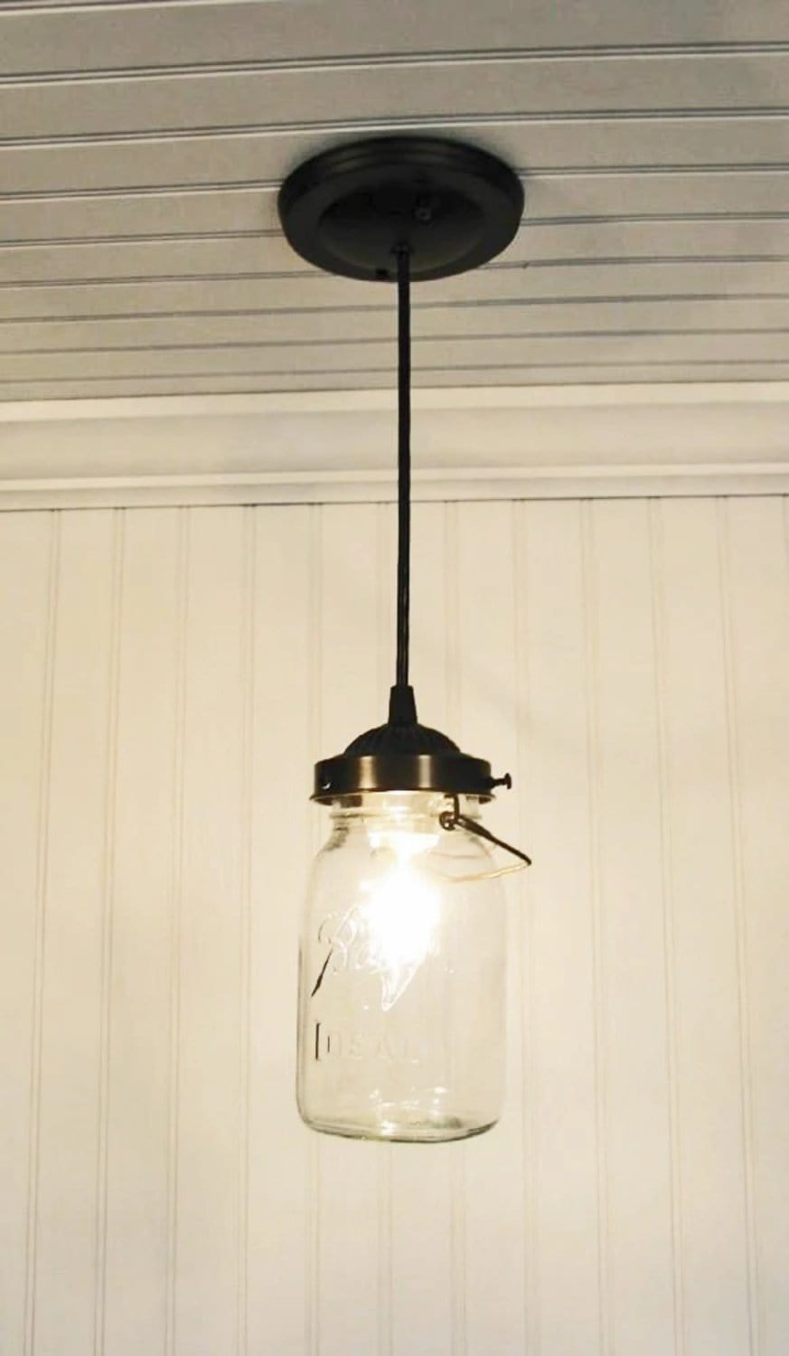 Rustic INDUSTRIAL Pendant Light Chandelier Ceiling Lighting Farmhouse Kitchen Glass Island LampGoods