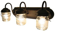 Load image into Gallery viewer, Mason Jar VANITY Light Fixture - Vintage Pint - The Lamp Goods
