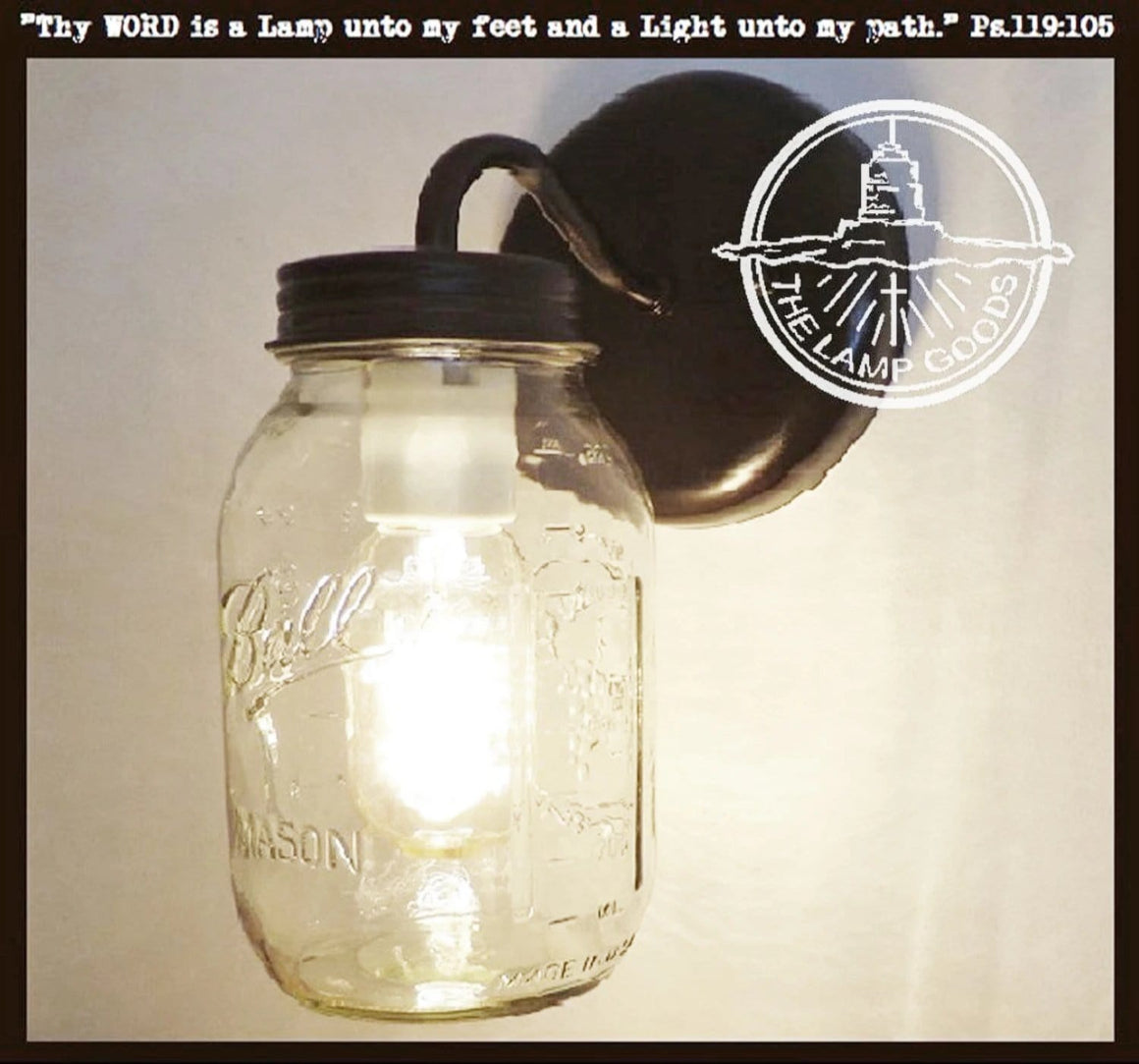 Mason Jar Wall SCONCE Lighting Fixture New Quart - The Lamp Goods