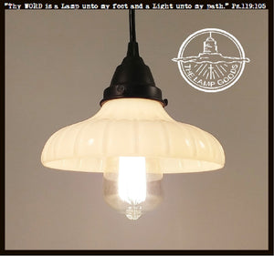 Vintage Milk Glass Pendant Light - The Lamp Goods