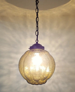 Mid Century Modern Amber Gold Pendant Light - The Lamp Goods