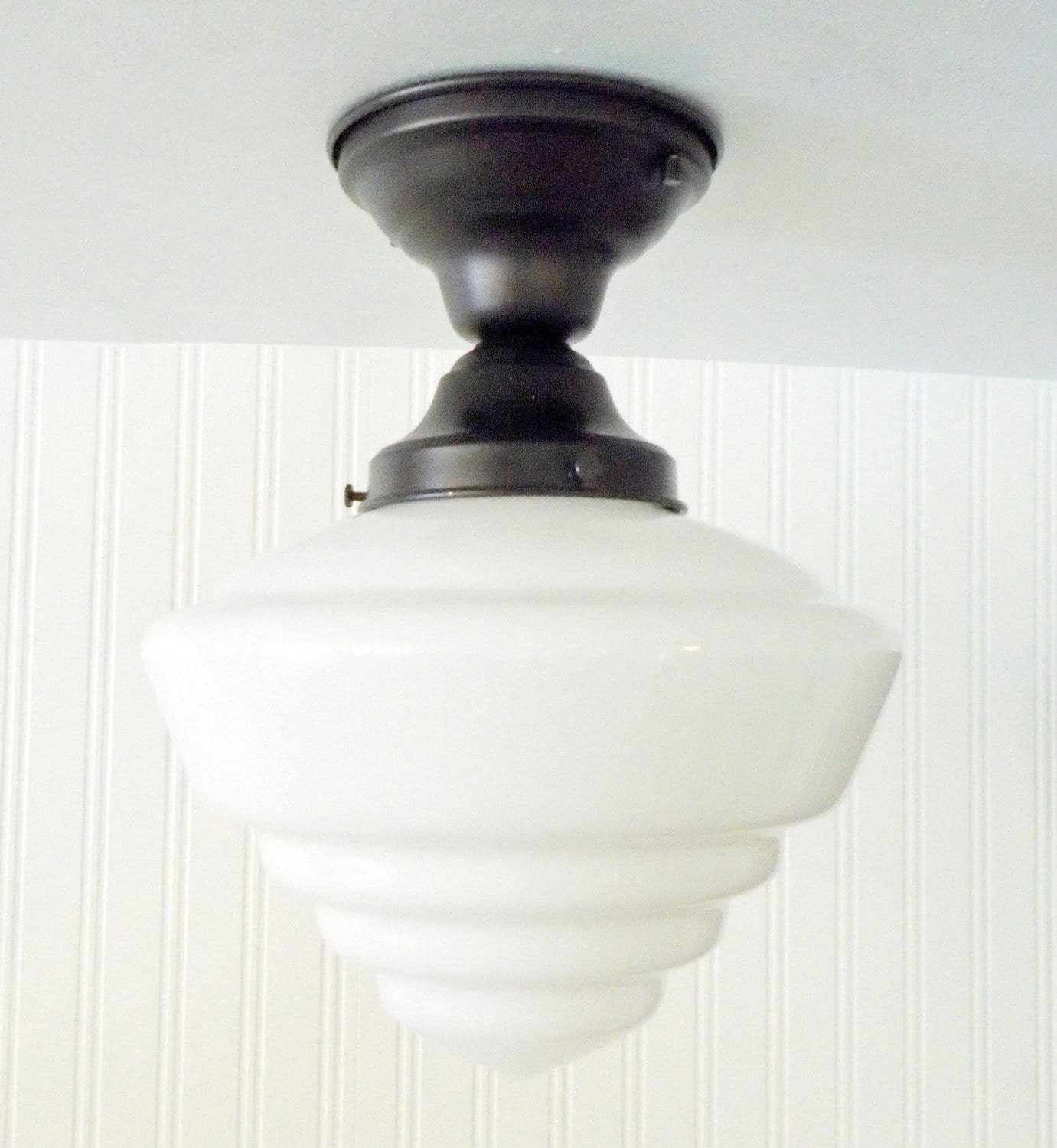 Windham milk glass schoolhouse ceiling light fixture the lamp goods milk glass schoolhouse ceiling light fixture the lamp goods aloadofball Images