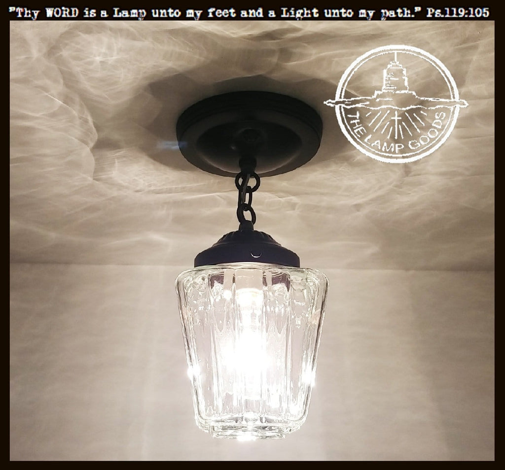 Vintage Square Glass Ceiling Light