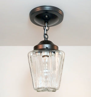 Vintage Square Glass Ceiling Light - The Lamp Goods