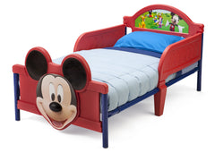 Delta Children Mickey Mouse 3D Footboard Toddler Bed Left View a2a