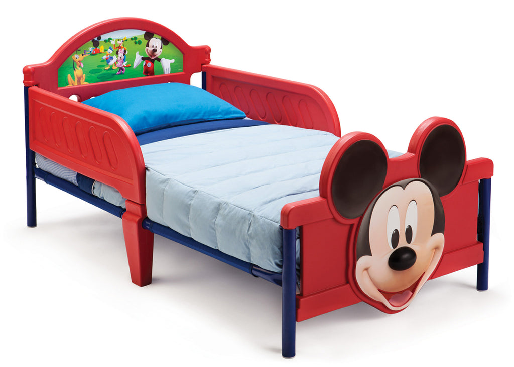 Delta Children Mickey Mouse 3D Footboard Toddler Bed Right View a1a