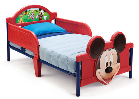 Mickey Mouse 3D Footboard Toddler Bed