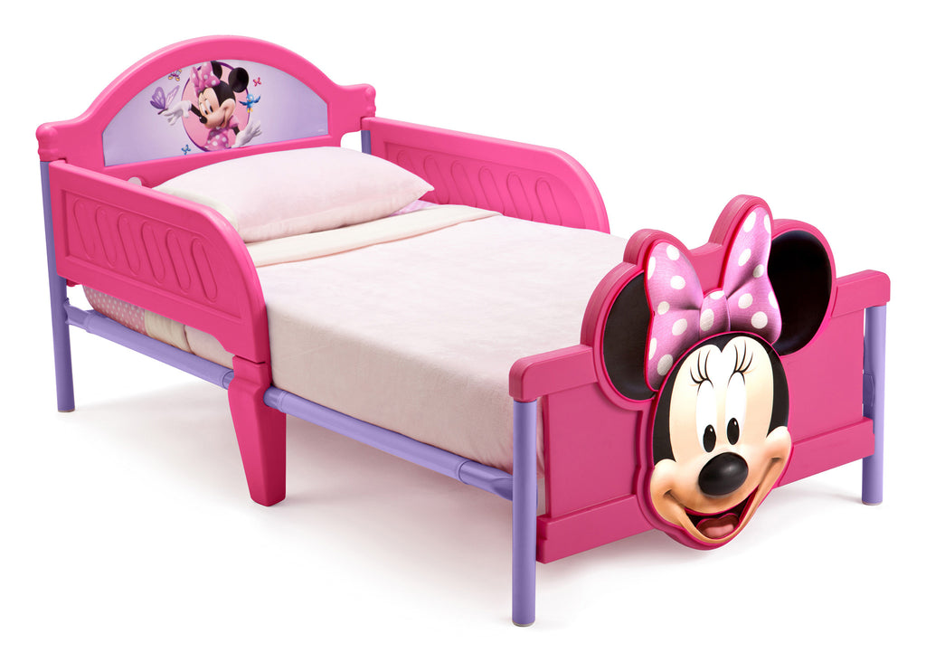 Delta Children Minnie Mouse 3D Footboard Toddler Bed Left View a1a