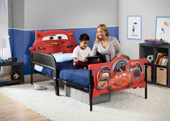 Delta Children Cars 3D Twin Bed, Room View, a1a