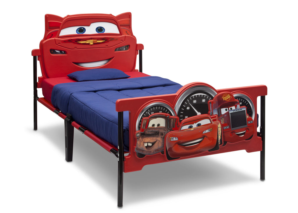 Delta Children Cars 3D Twin Bed, Left View, a2a