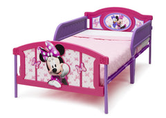 Delta Children 3D Twin Bed Left View With Guardrails a2a