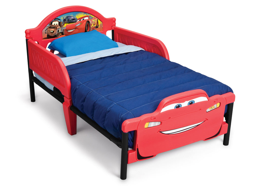 Delta Children Cars 3D Footboard Toddler Bed Left view a1a
