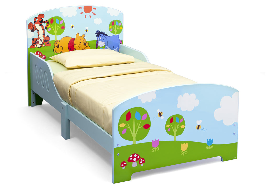 Delta Children Winnie The Pooh Wooden Toddler Bed, Left View a1a