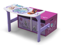 Delta Children Frozen 3-in-1 Storage Bench and Desk Left View Open a3a