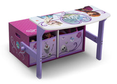 Delta Children Frozen 3-in-1 Storage Bench and Desk Right View Open a1a