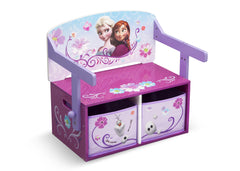 Delta Children Frozen 3-in-1 Storage Bench and Desk Right View Closed a2a