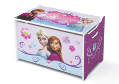 Delta Children Frozen Wooden Toy Box, Left View a2a