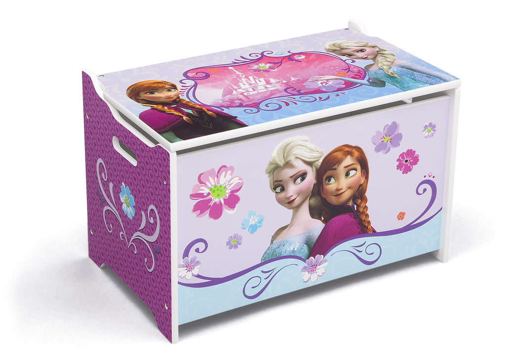 Delta Children Frozen Wooden Toy Box, Right View a1a