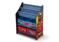 Delta Children Cars Book and Toy Organizer Left View a2a