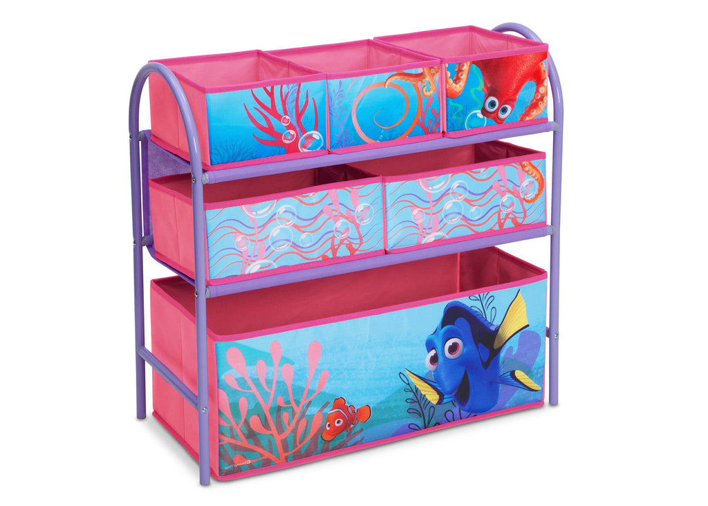 Delta Children Finding Dory Metal Frame Toy Organizer Left Angle Empty a1a